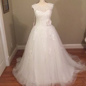 New wedding dress size x large sequins ballgown